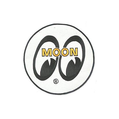 MOON Patch/Aufnäher, Logo, groß, weiß