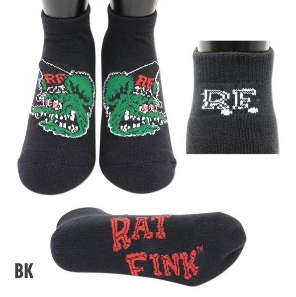 Mooneyes Rat Fink Ankle Socken, schwarz