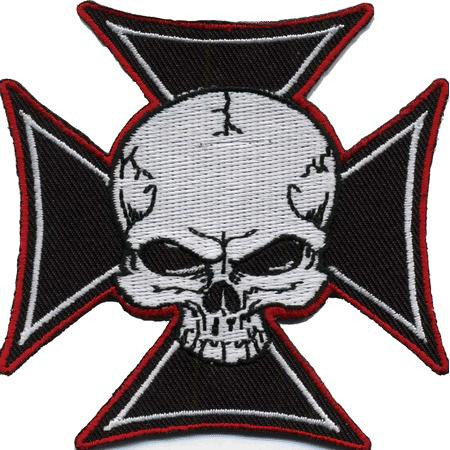 Aufnäher/Patch Skull on Cross, groß