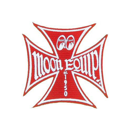 MOON Equipped Patch/Aufnäher, Iron Cross, rot