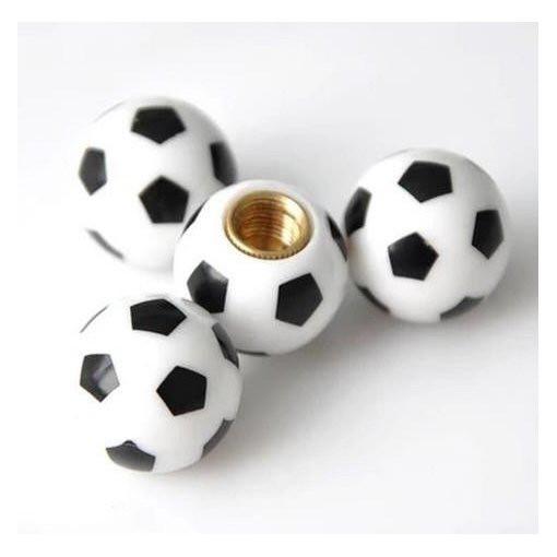 Ventilkappen Fußball, Kunststoff, 4er Satz