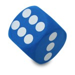 "Antennenball ""Blue Dice"""