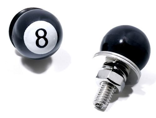 Kennzeichenschrauben Set, 2teilig, Eight Ball/8 Ball