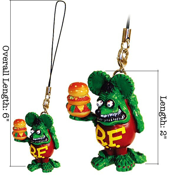 Rat Fink Burger Figur am Band