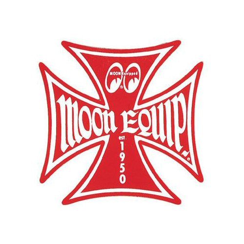 MOON Aufkleber, Moon Equipped, Iron Cross, rot, 50 mm