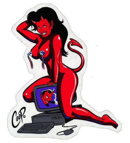 Aufkleber Computer Devil, Coop