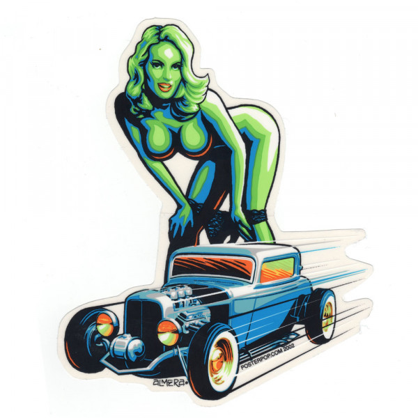 Aufkleber Hot Rod Girl, Almera