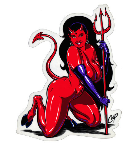 Aufkleber Devil Wanna Fork?, Coop